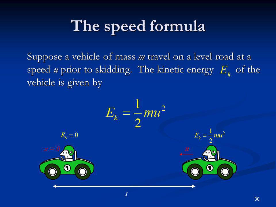 The speed formula