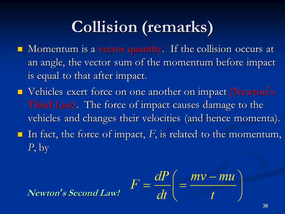 Collision (remarks)