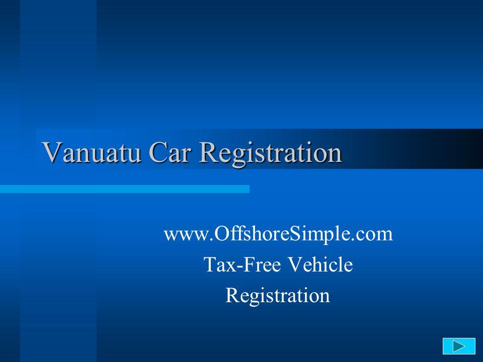 Vanuatu Car Registration