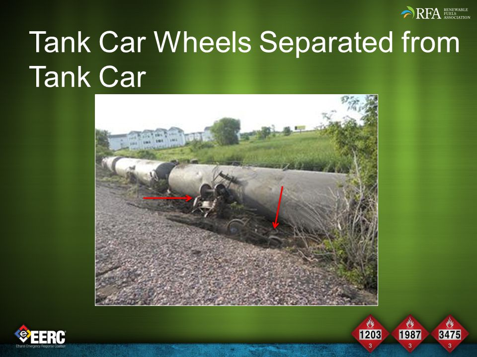 Tank Car Wheels Separated from Tank Car
