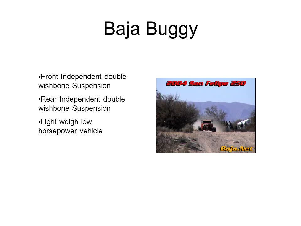 Baja Buggy Front Independent double wishbone Suspension