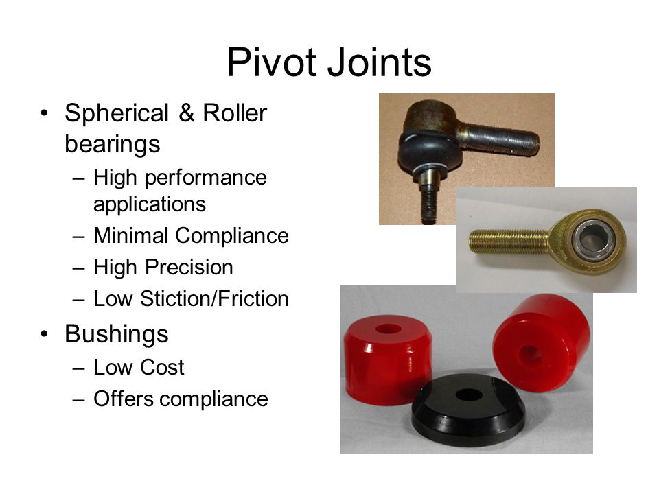 Pivot Joints Spherical & Roller bearings Bushings