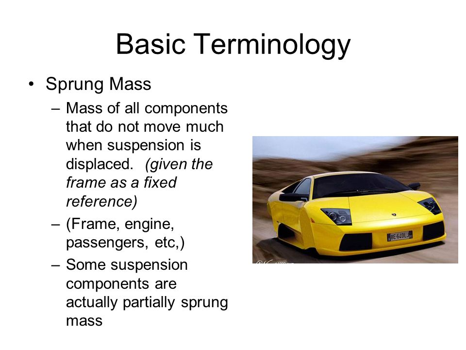 Basic Terminology Sprung Mass