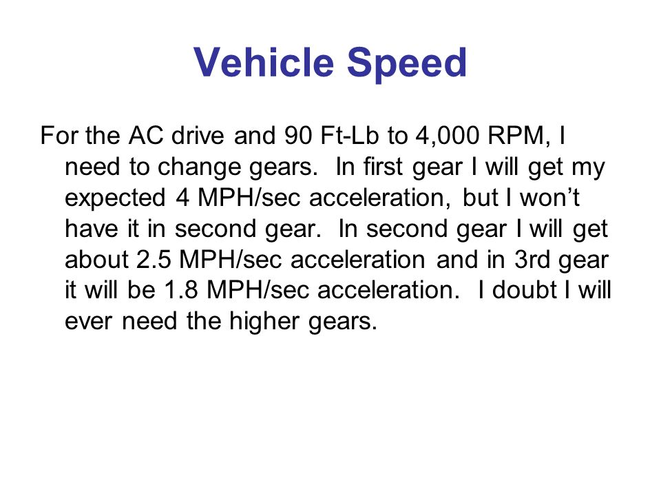 Vehicle Speed