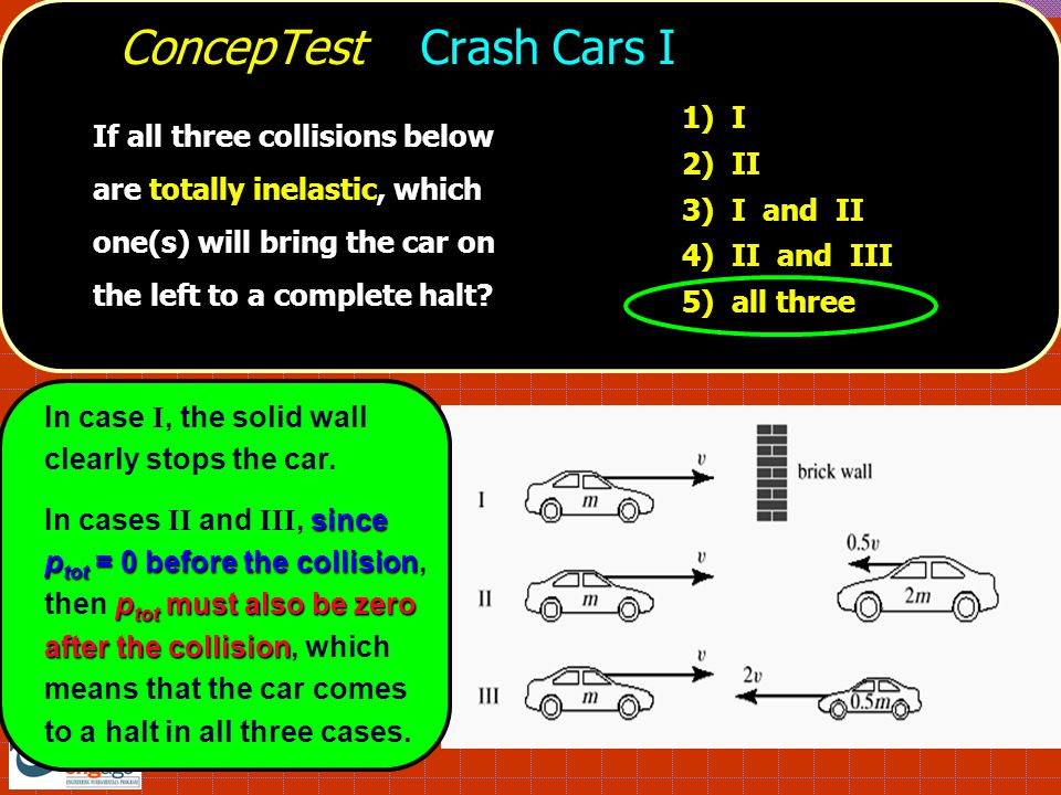 ConcepTest Crash Cars I