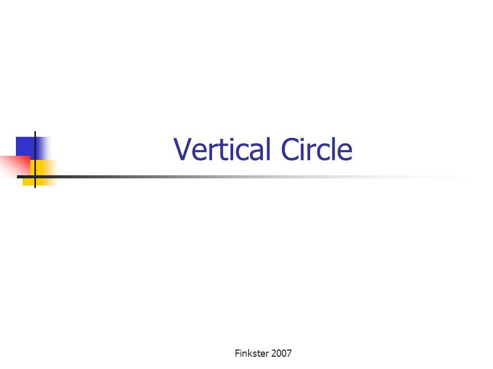 Vertical Circle Finkster 2007