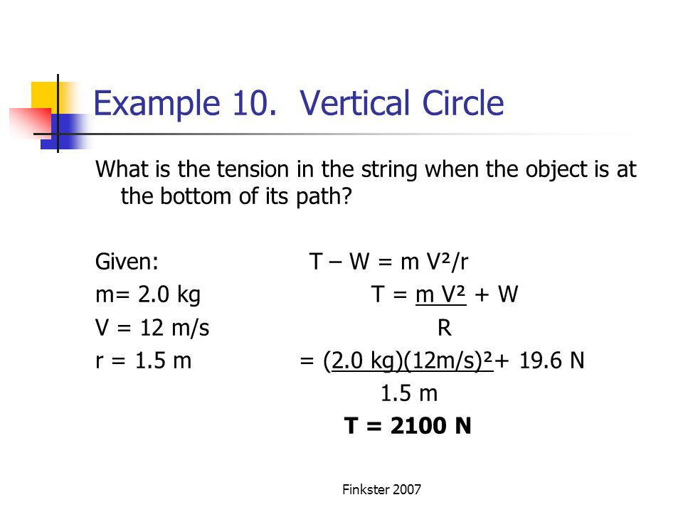 Example 10. Vertical Circle