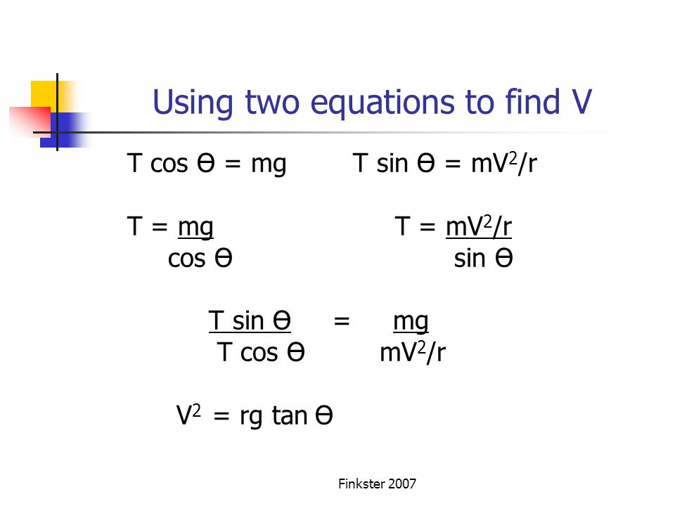 Using two equations to find V