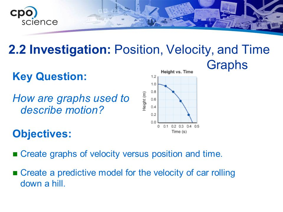 2.2 Investigation: Position, Velocity, and Time Graphs