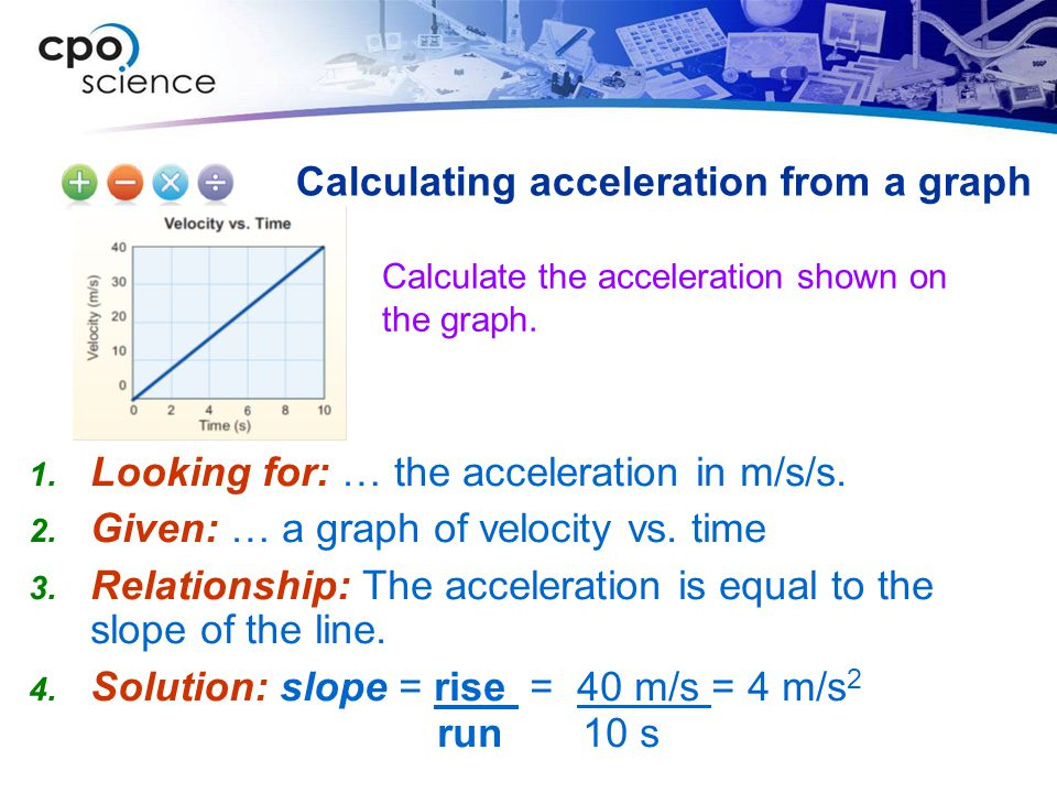 Calculating acceleration from a graph