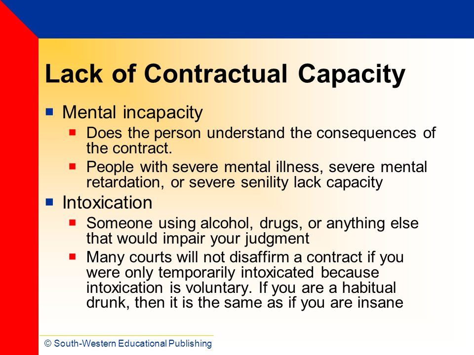 Lack of Contractual Capacity