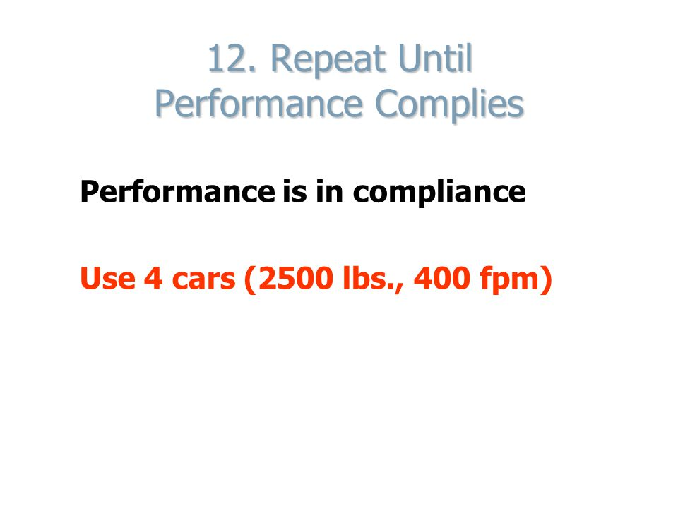 12. Repeat Until Performance Complies