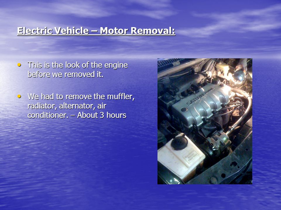 Electric Vehicle – Motor Removal: