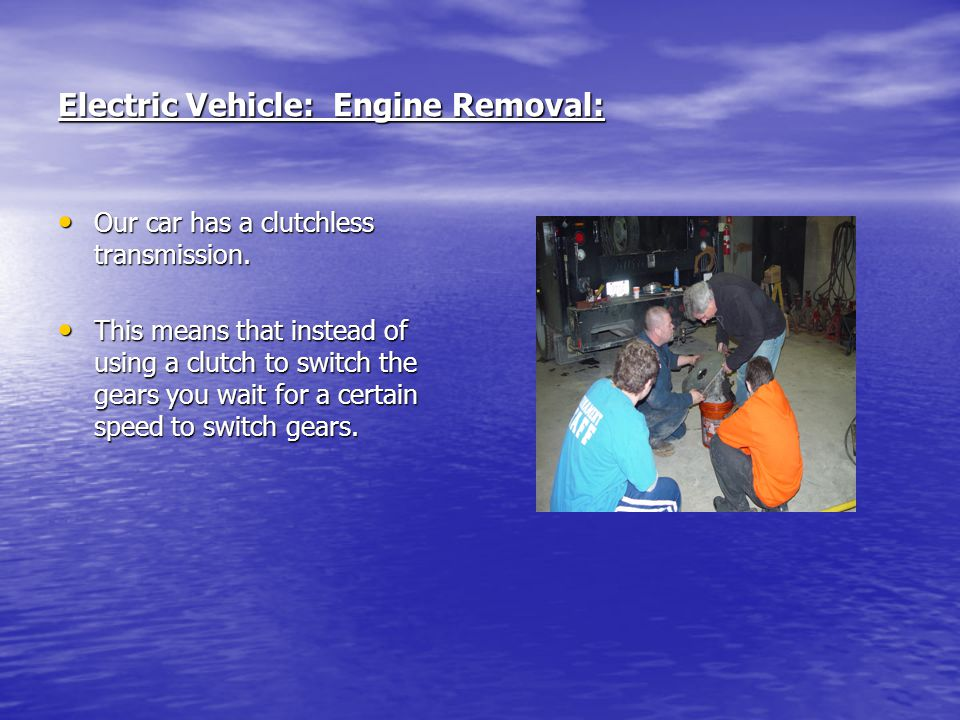 Electric Vehicle: Engine Removal: