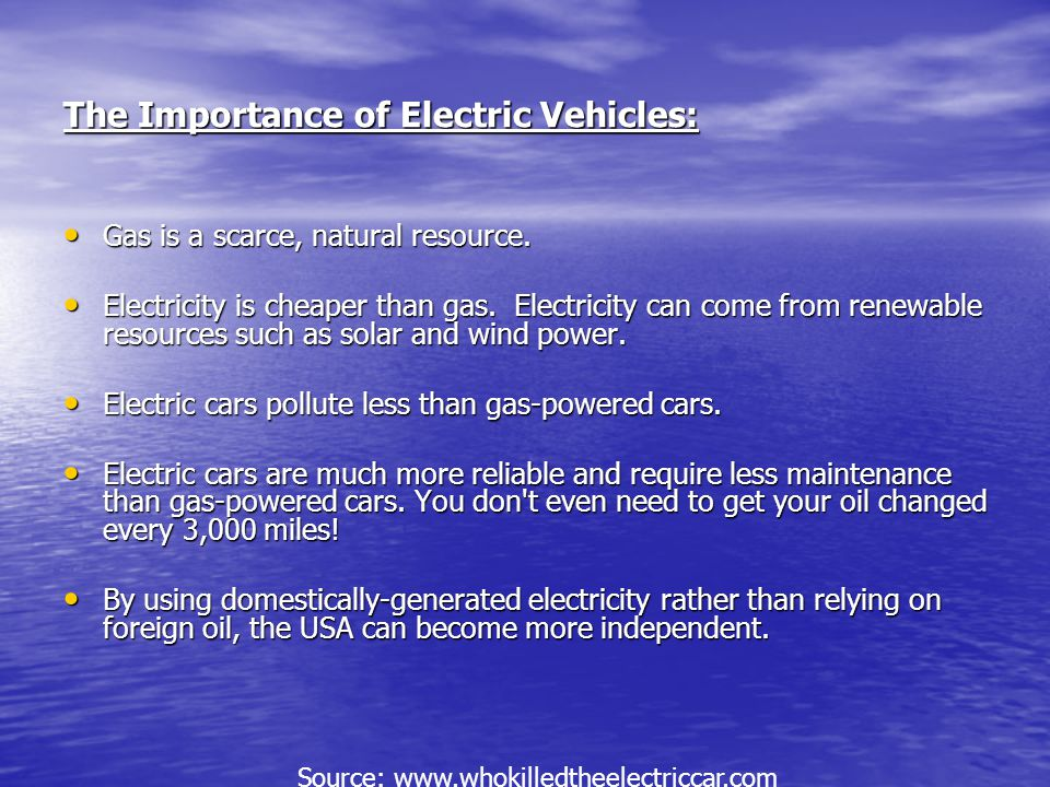 The Importance of Electric Vehicles: