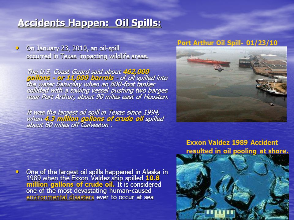 Accidents Happen: Oil Spills: