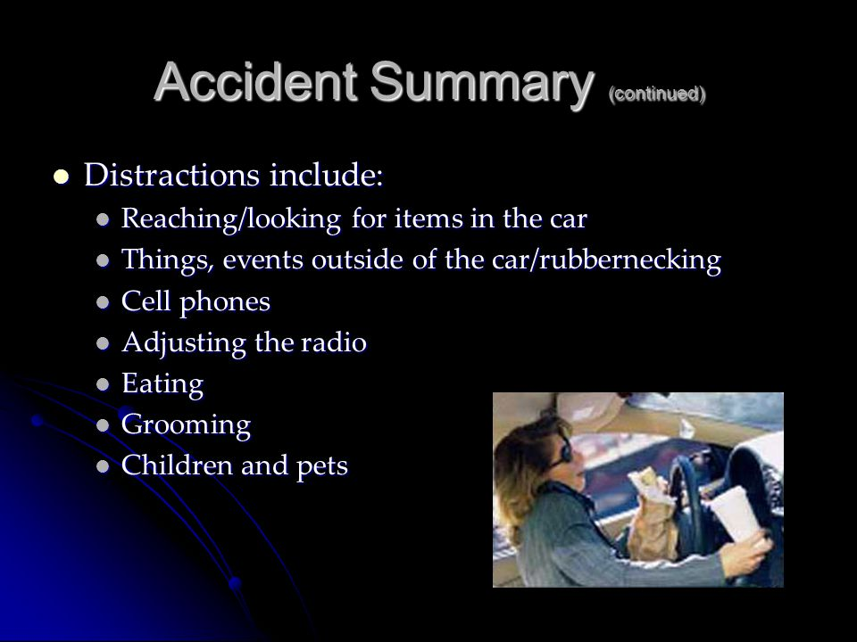 Accident Summary (continued)