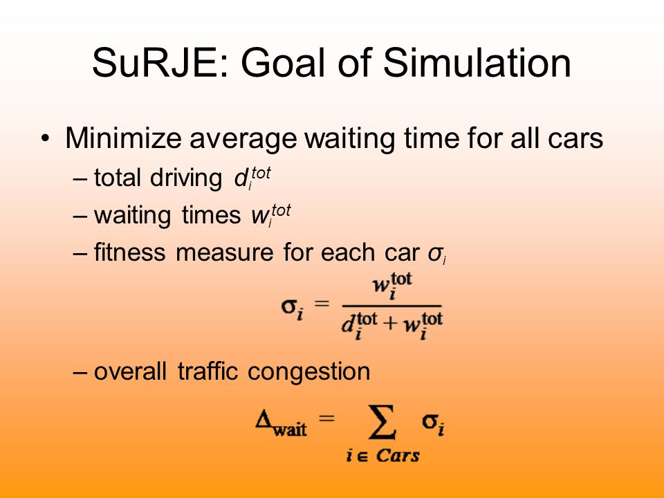 SuRJE: Goal of Simulation