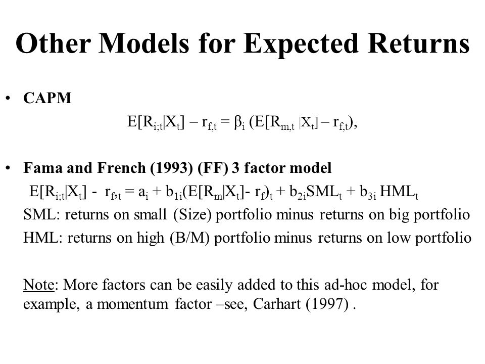 Other Models for Expected Returns