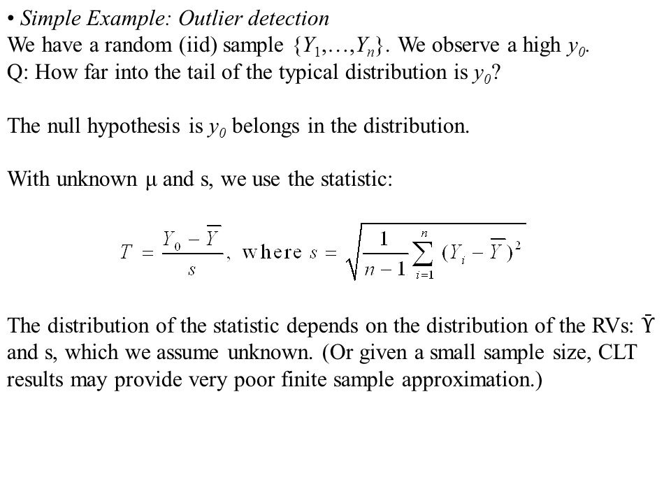 • Simple Example: Outlier detection