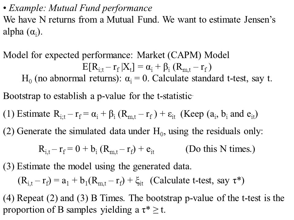 Example: Mutual Fund performance