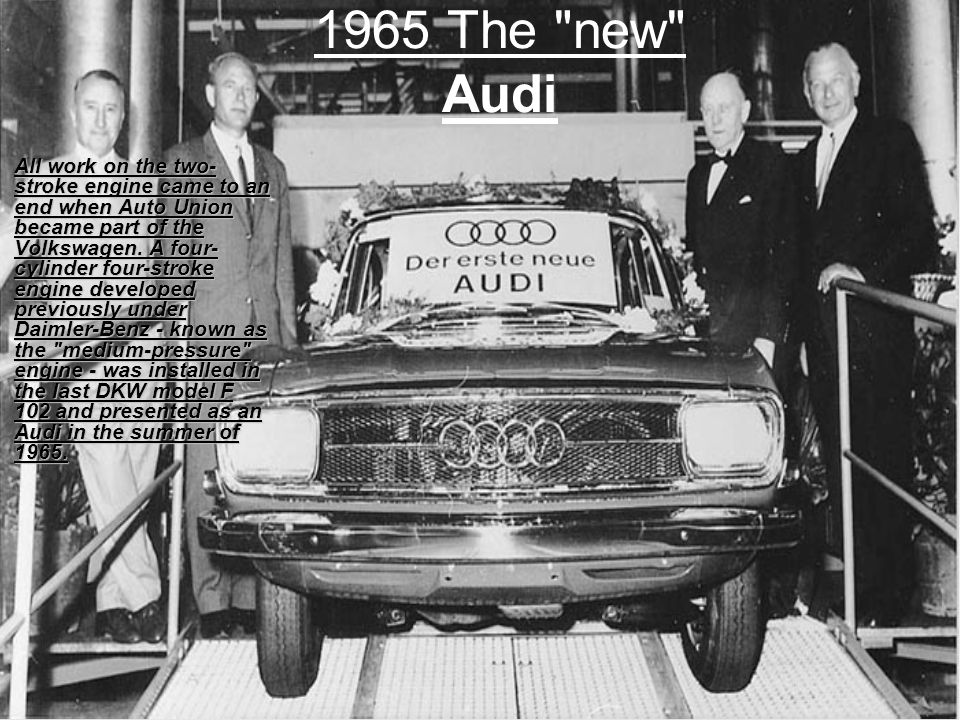1965 The new Audi
