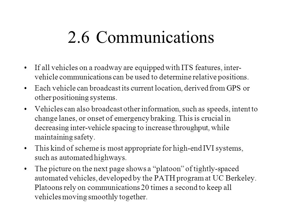 2.6 Communications