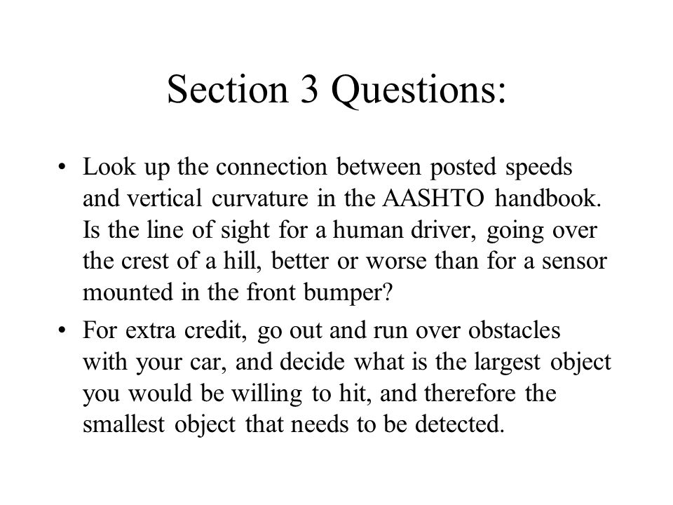 Section 3 Questions: