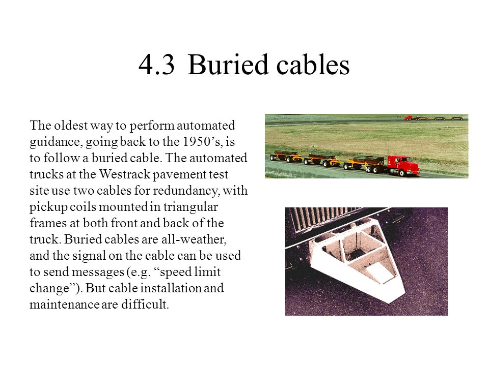 4.3 Buried cables