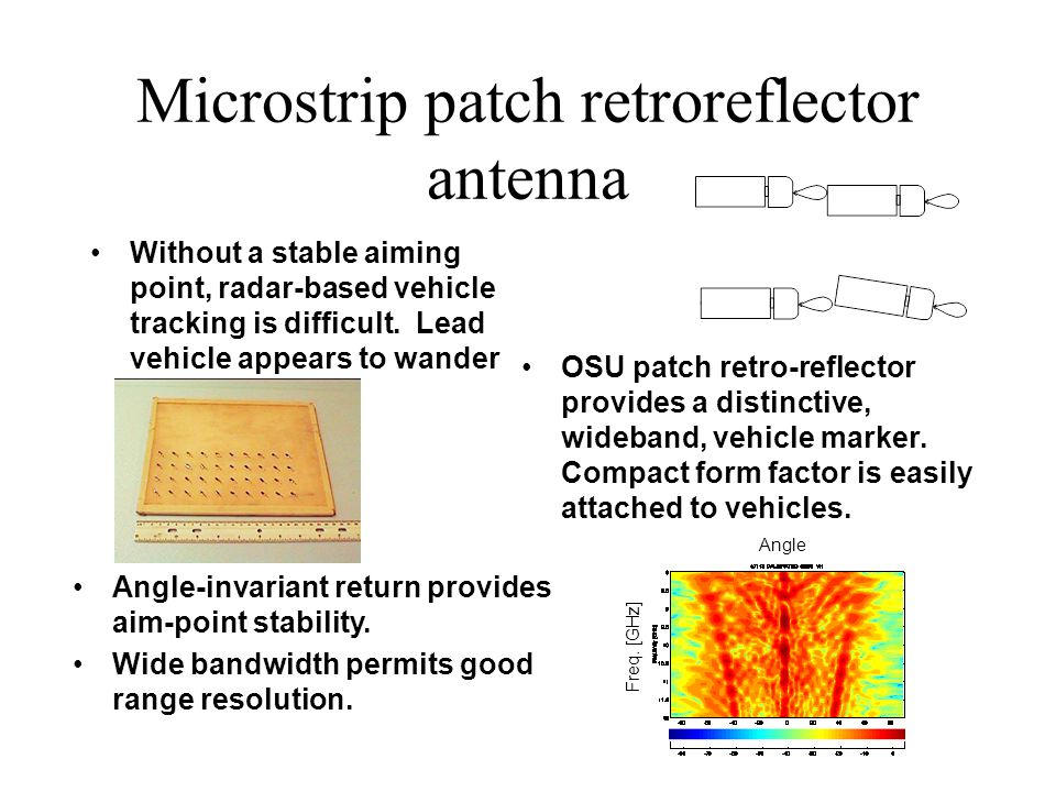 Microstrip patch retroreflector antenna