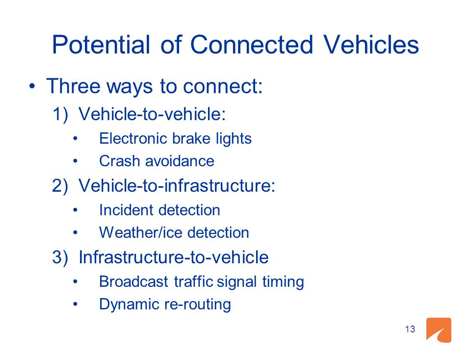 Potential of Connected Vehicles