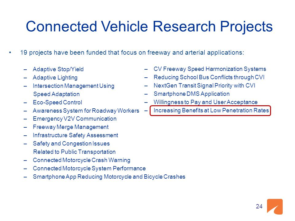 Connected Vehicle Research Projects