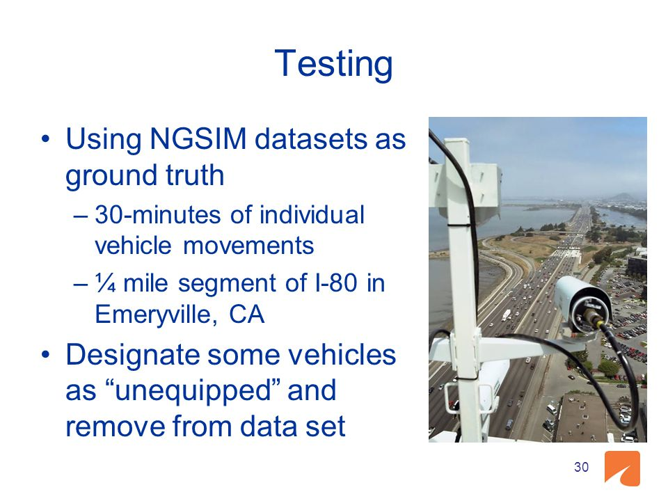 Testing Using NGSIM datasets as ground truth