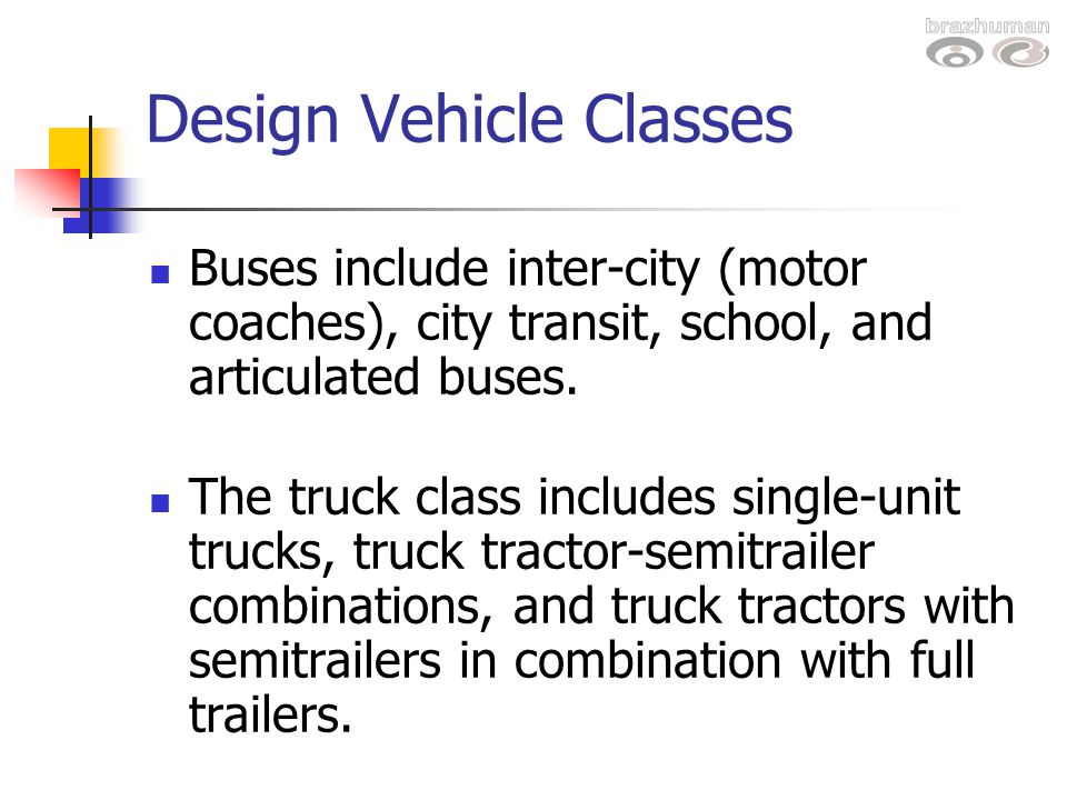 Design Vehicle Classes