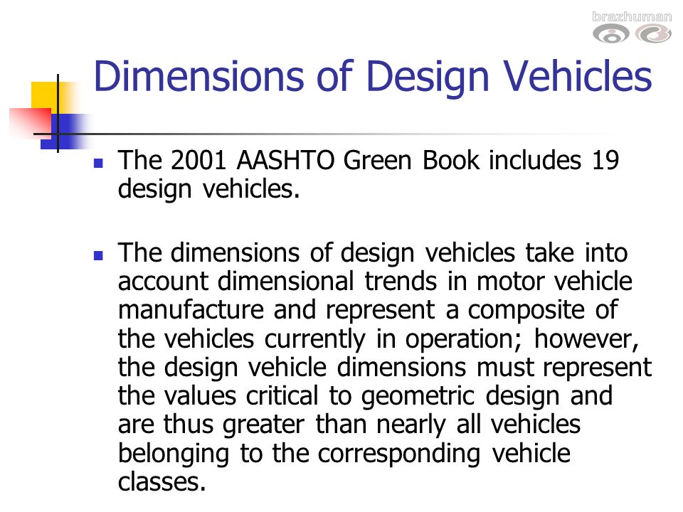 Dimensions of Design Vehicles