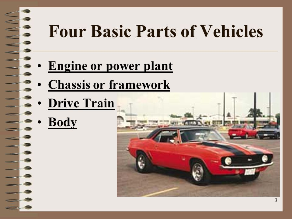 Four Basic Parts of Vehicles
