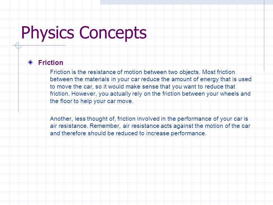 Physics Concepts Friction
