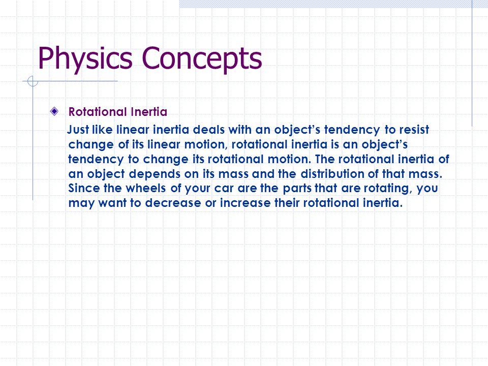 Physics Concepts Rotational Inertia