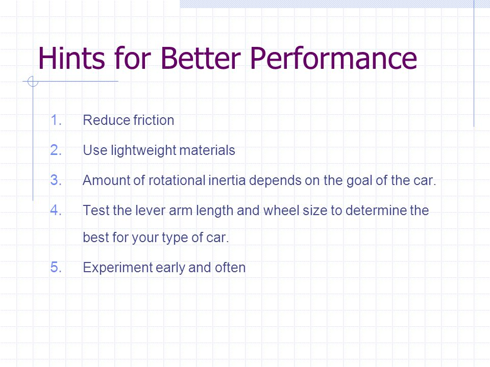 Hints for Better Performance