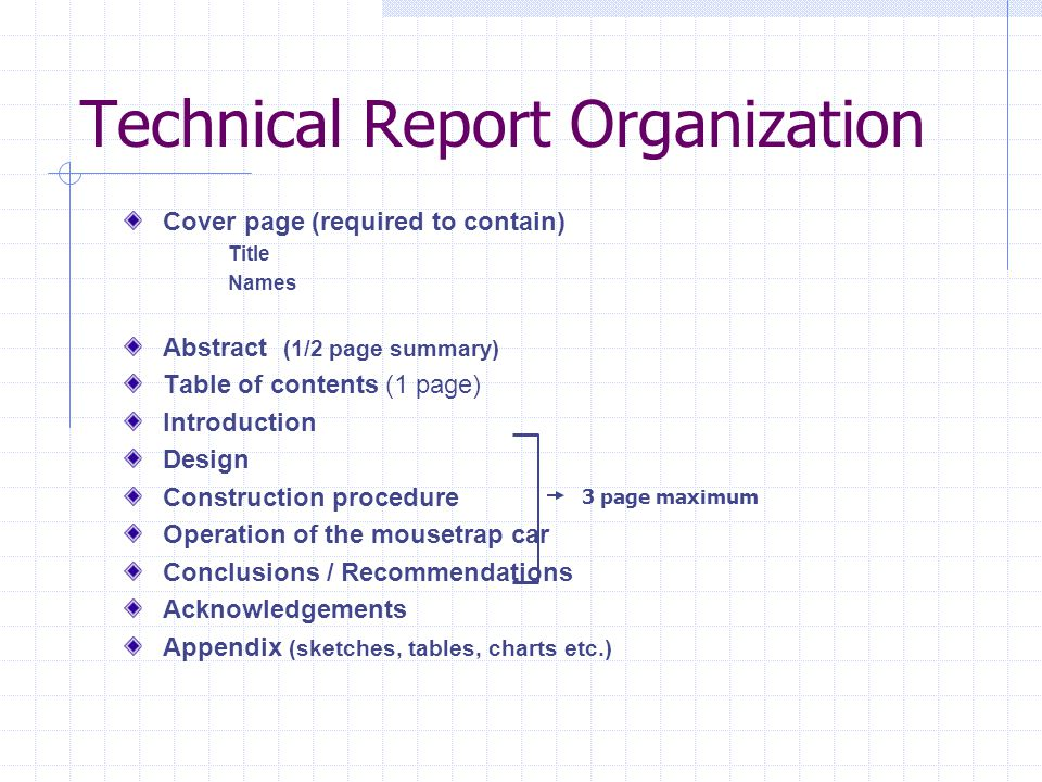 Technical Report Organization