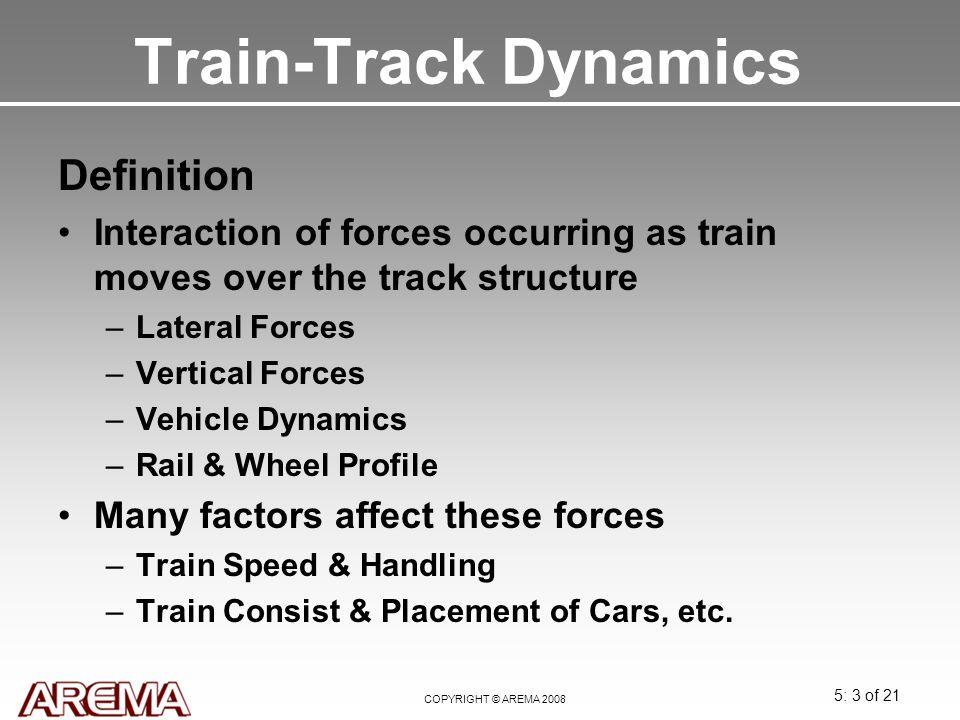 Train-Track Dynamics Definition