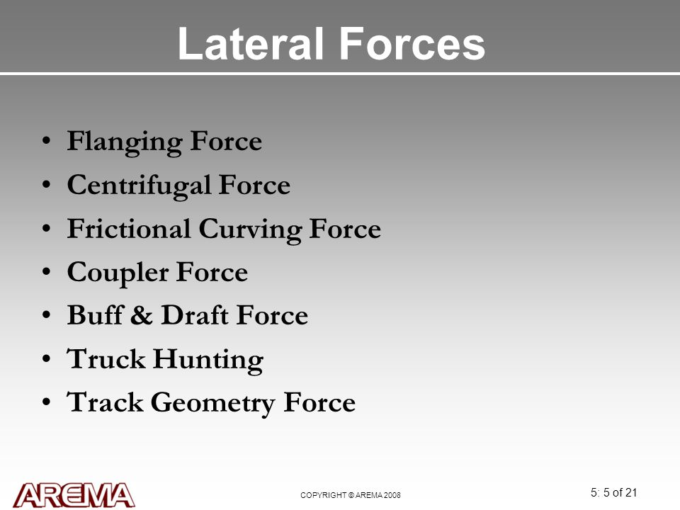 Lateral Forces Flanging Force Centrifugal Force