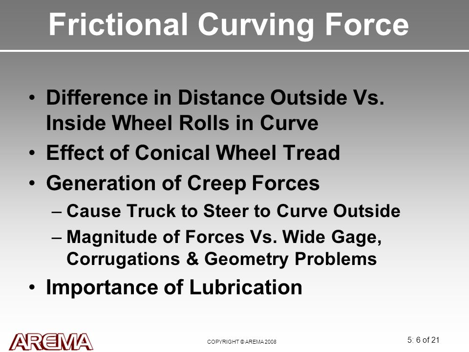 Frictional Curving Force