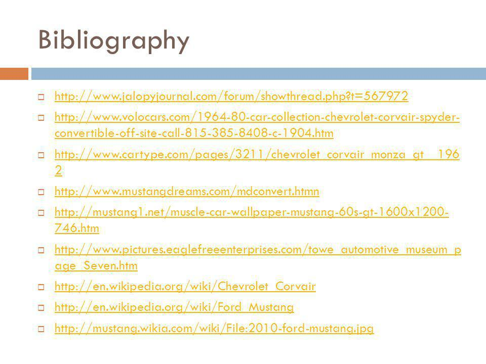 Bibliography http://www.jalopyjournal.com/forum/showthread.php t=567972.