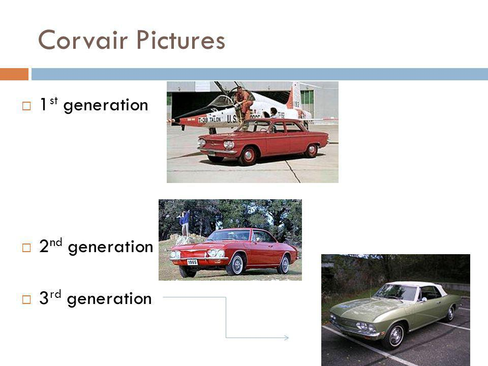 Corvair Pictures 1st generation 2nd generation 3rd generation