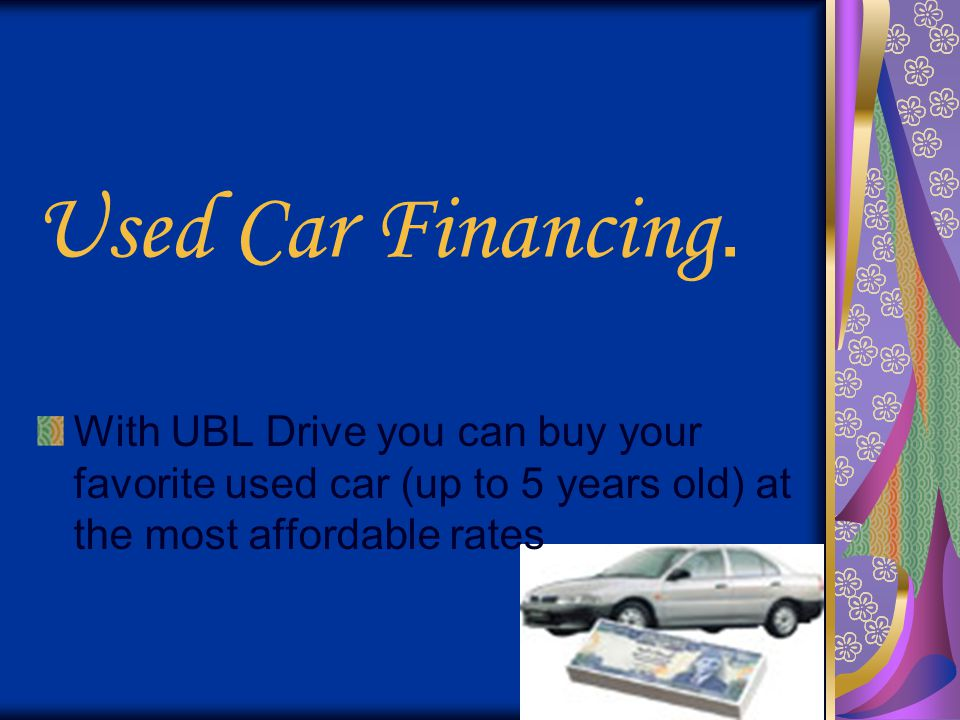 Used Car Financing.
