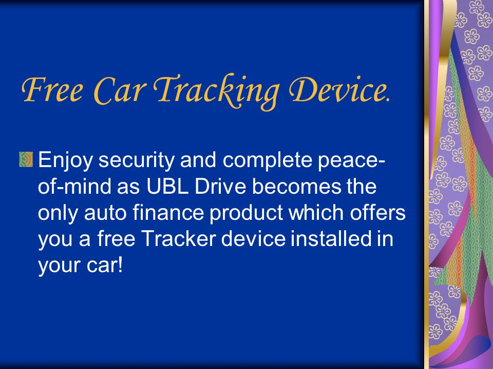Free Car Tracking Device.