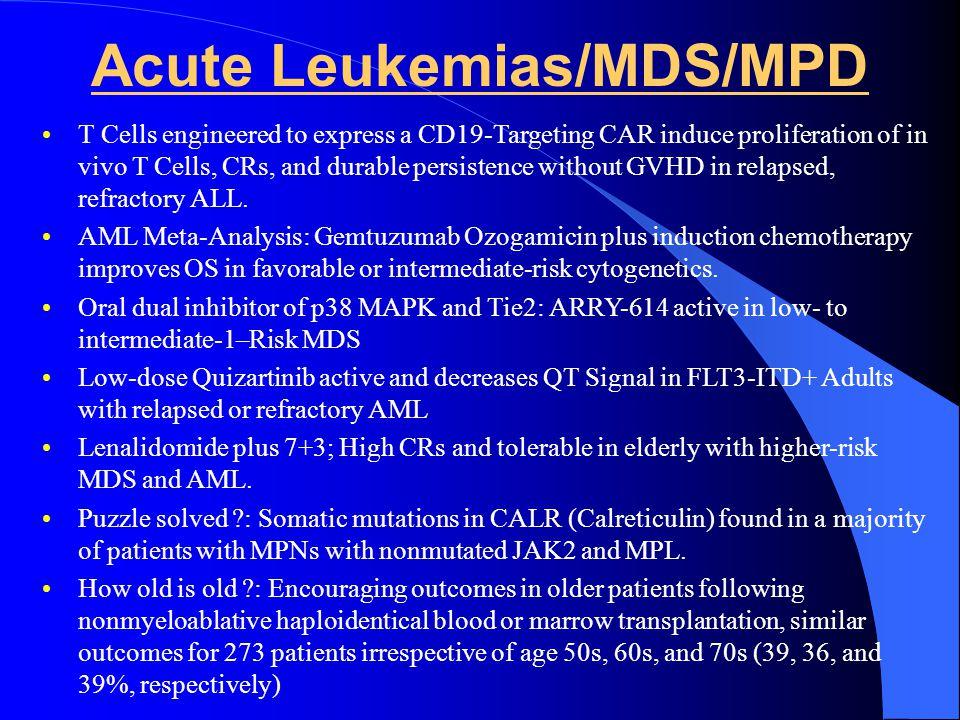 Acute Leukemias/MDS/MPD