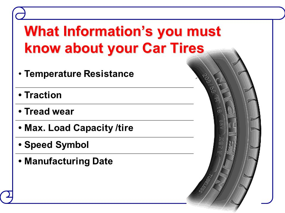 What Information's you must know about your Car Tires