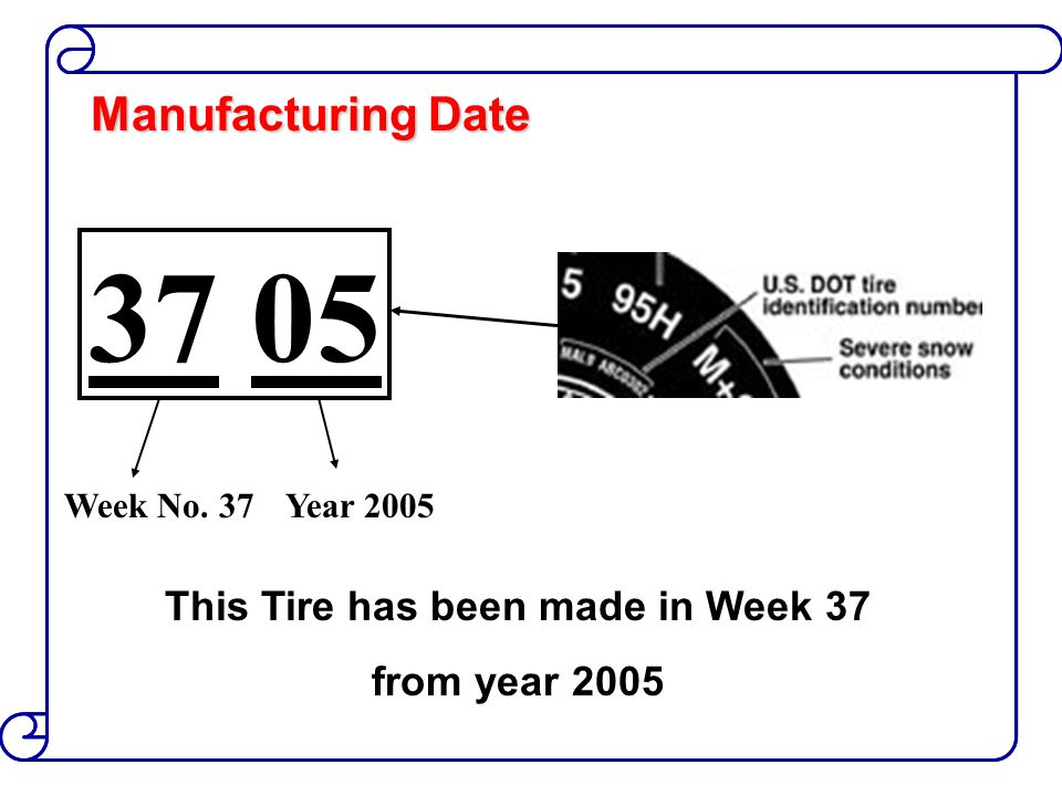 This Tire has been made in Week 37